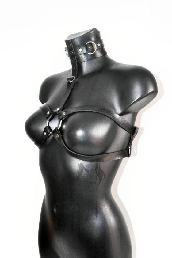 Портупея Zero с поддержкой груди и чокером в комплекте